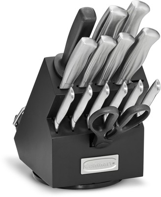 Cuisinart Classic 15-pc. Stainless Steel Rotating Knife Block Set