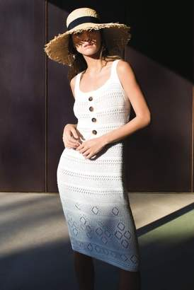 Next Womens Warehouse White Mock Crochet Dress