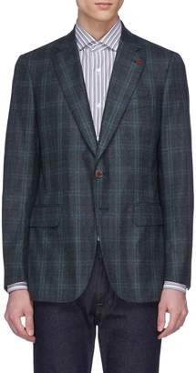 Isaia 'Gregory' tartan plaid brushed wool blazer