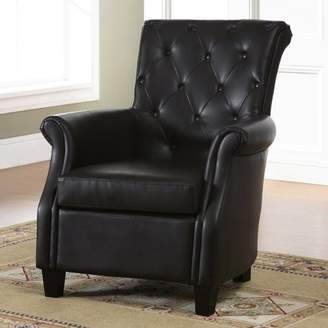 Baxton Studio Brixton Classic and Contemporary Brown Faux Leather Button-tufted Upholstered Armchair