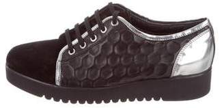 Aquatalia Embossed Platform Sneakers