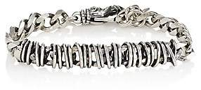 Emanuele Bicocchi Men's Sterling Silver Wire-Wrapped Chain Bracelet-Silver