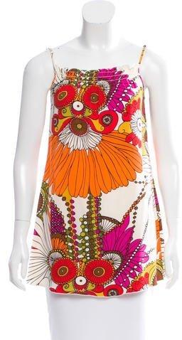 Trina Turk Abstract Print Silk Top