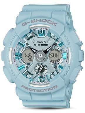G-Shock S Series Pastel Blue Watch, 45.9mm