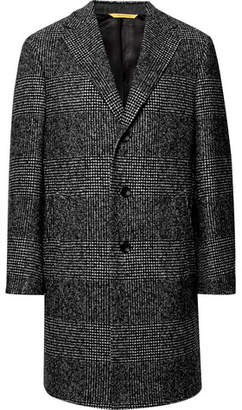 Canali Kei Prince Of Wales Checked Wool-Blend Overcoat