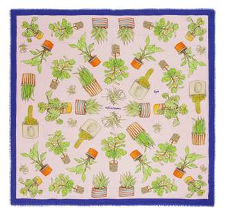 Cjw 'Plant Mom Giant' graphic print scarf