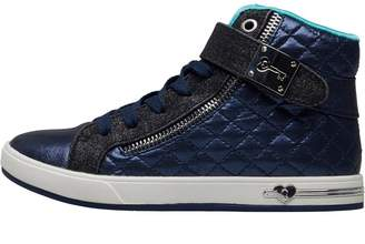 Skechers Girls Shoutouts Quilted Crush Hi Tops Navy