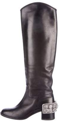 Chanel Paris-Dallas Embellished Knee-High Boots