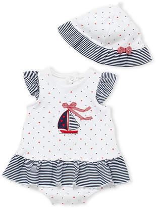 Little Me Newborn Girls) Sailboat 2fer Bodysuit