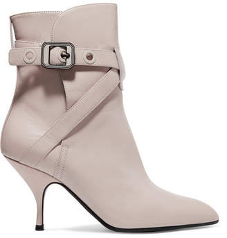 Bottega Veneta Leather Ankle Boots - Cream