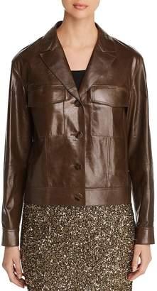 Lafayette 148 New York Theodosia Lightweight Leather Jacket