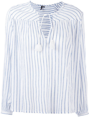 Woolrich striped tassel-tie blouse $89.05 thestylecure.com