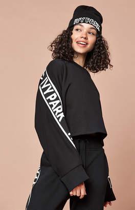 Ivy Park Logo Trim Black Sweatshirt