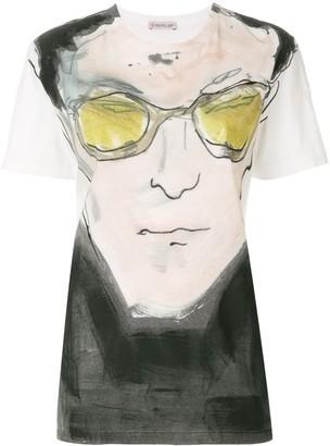 Moncler portrait print T-shirt
