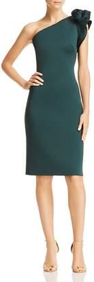 Eliza J One-Shoulder Floral-Detail Dress