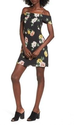 Women's Socialite Ruffle Cold Shoulder Dress $45 thestylecure.com