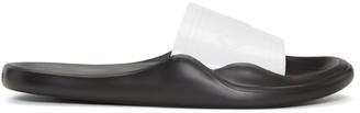 Kenzo White Logo Beach Slide Sandals $115 thestylecure.com