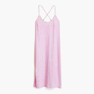 J.Crew Strappy knit midi dress in stripe