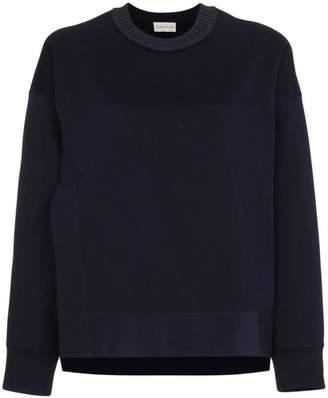 Moncler logo embroidered slit sweatshirt
