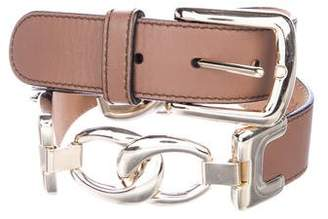 Temperley London Leather Buckle Belt