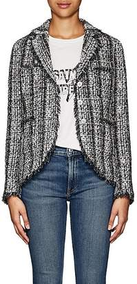 Barneys New York Women's Frayed-Edge Tweed Jacket - Black