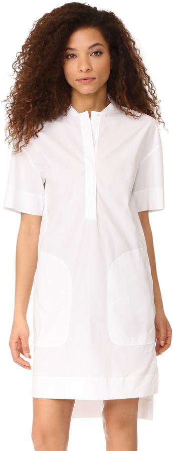 DKNYDKNY Short Sleeve Dress with Half Hidden Placket