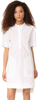 DKNY Short Sleeve Dress with Half Hidden Placket $248 thestylecure.com