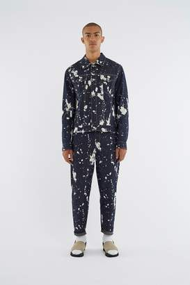 3.1 Phillip Lim Reversible Paint-Splattered Raw-Denim Jacket