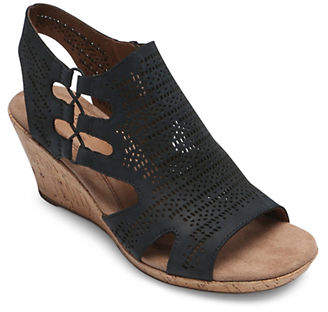Rockport COBB HILL Janna Perforated Wedge Sandals