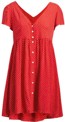 Ralph Lauren Denim & Supply Polka-Dot Button-Front Dress $98 thestylecure.com