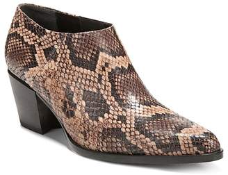 Vince Women's Hamilton Snake Embossed Leather Booties