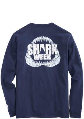 Vineyard Vines Mens Shark Week Long-Sleeve Jaws T-Shirt
