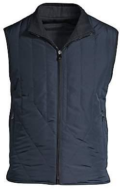 Corneliani Men's Quilted Wool Reversible Vest