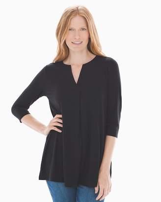 95771209ea38d Soft Jersey Split Neck Tunic Black