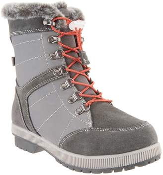 Khombu Leather and Suede Lace-Up Winter Boots - Janet