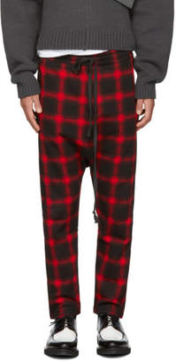 D by D Red and Black Dropped Inseam Lounge Pants