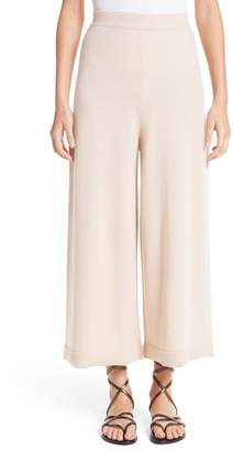 Rosetta Getty Cashmere Crop Wide Leg Pants