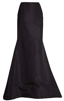 Carolina Herrera Women's Silk Faille Long Trumpet Skirt