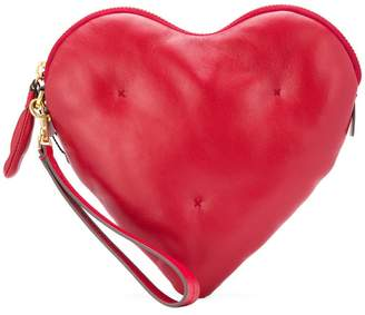 Anya Hindmarch chubby heart clutch bag