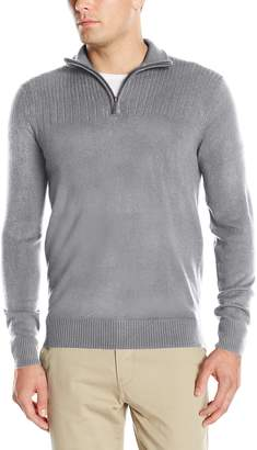 Geoffrey Beene Men's Quarter Zip Sweater