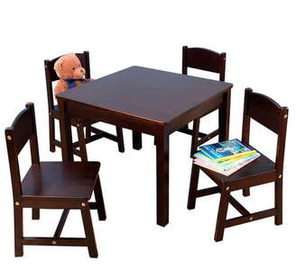 Kid Kraft Farmhouse Kids 5 Piece Square Table and Chair Set