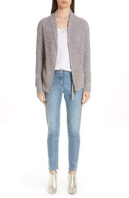 Fabiana Filippi Coated Skinny Jeans with Tassel Charm