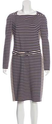 Tory Burch Long Sleeve Striped Dress