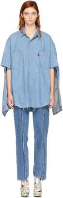 Vetements Blue Levis Edition Denim Oversized Shirt