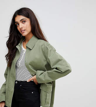 Asos Tall DESIGN Tall washed cotton jacket
