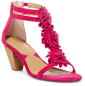 Adrienne Vittadini Patino Floral T-Strap Sandal $105 thestylecure.com