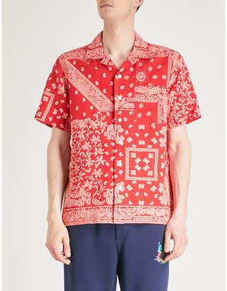 Polo Ralph Lauren Bandana-print cotton, linen and silk-blend shirt