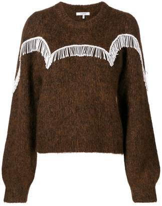 Ganni beaded fringe detail sweater