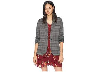 Michael Stars Plaid Ponte Blazer