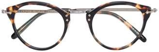Oliver Peoples turtle print glasses